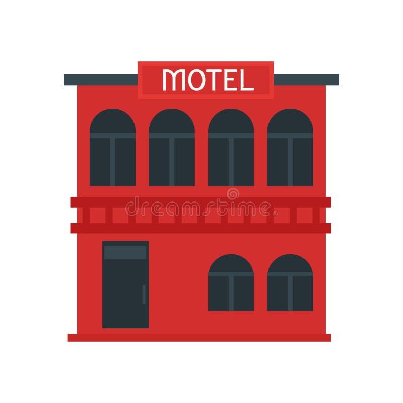 Muestra y símbolo del vector del icono del motel aislados en el fondo blanco, concepto del logotipo del motel stock de ilustración