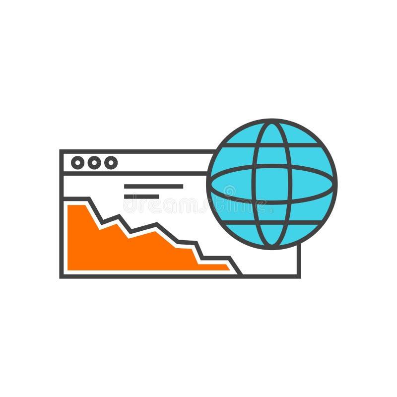 Muestra y símbolo del vector del icono del navegador aislados en el fondo blanco libre illustration