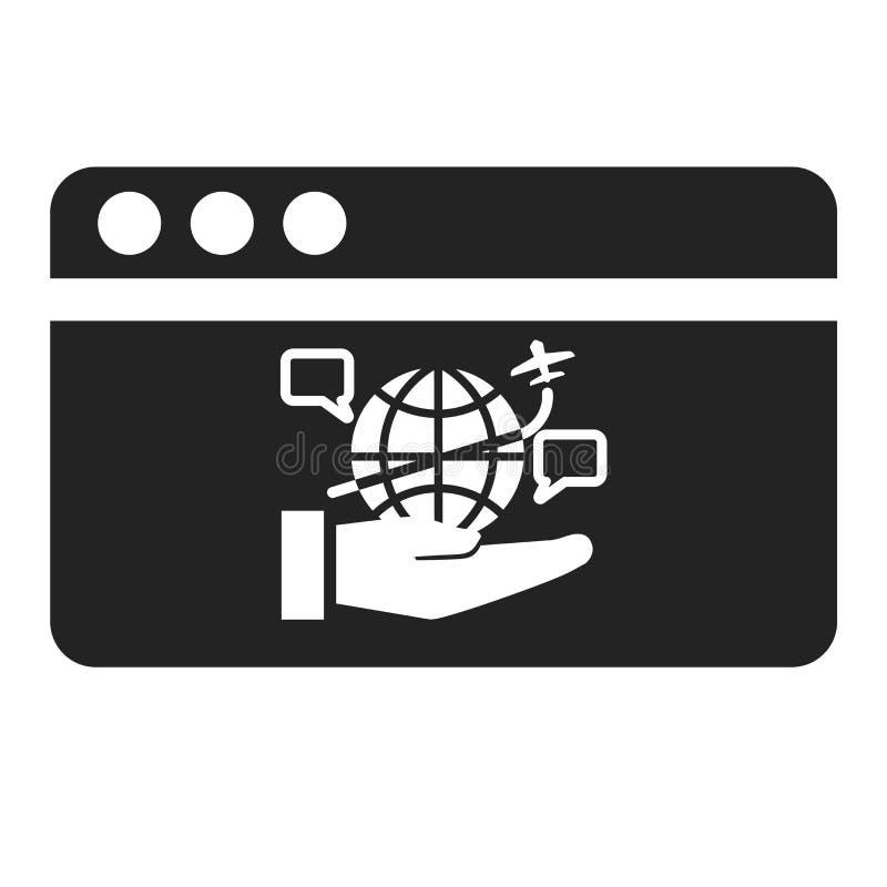 Muestra y símbolo del vector del icono del navegador aislados en el fondo blanco, concepto del logotipo del navegador libre illustration