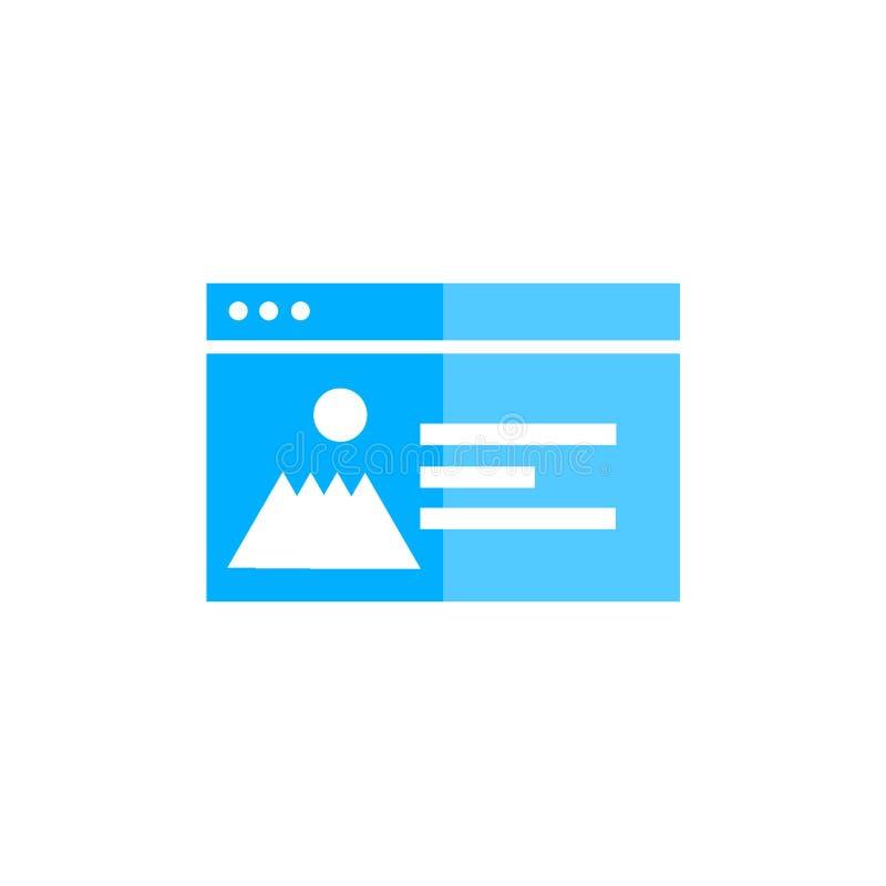 Muestra y símbolo del vector del icono del navegador aislados en el fondo blanco, concepto del logotipo del navegador ilustración del vector