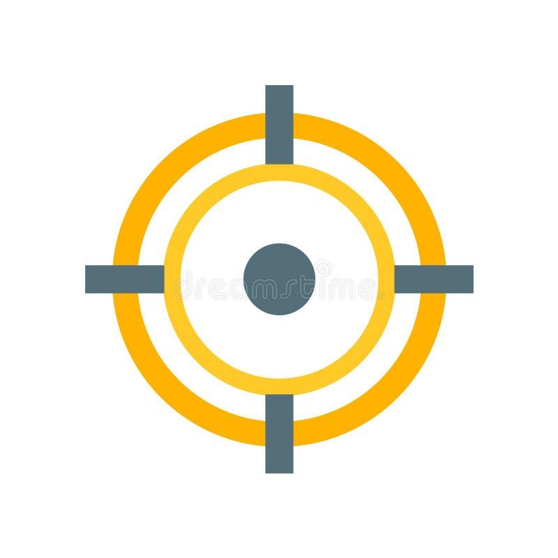 Muestra y símbolo del vector del icono del objetivo aislados en el fondo blanco, concepto del logotipo del objetivo stock de ilustración