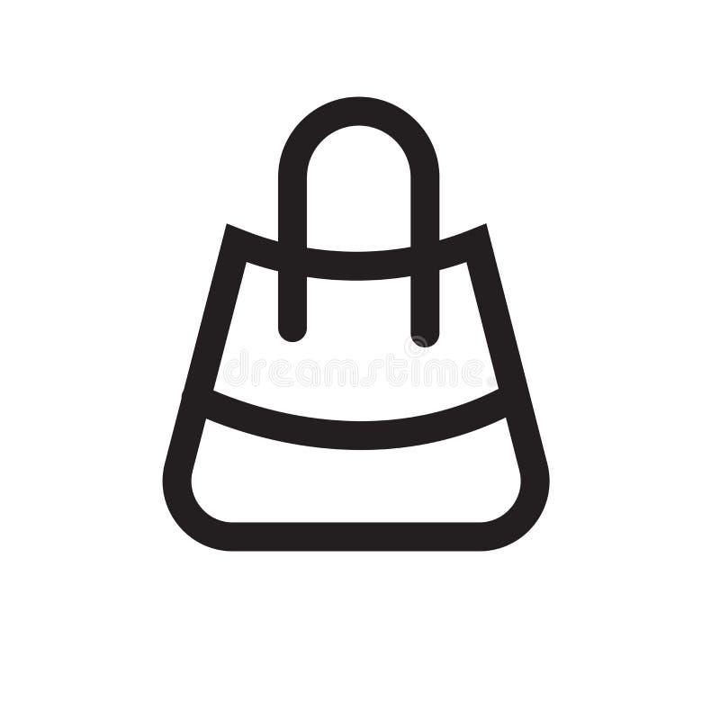 Muestra y símbolo del vector del icono del panier aislados en el backg blanco stock de ilustración