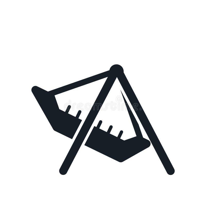 Muestra y símbolo del vector del icono del parque de atracciones aislados en el fondo blanco, concepto del logotipo del parque de ilustración del vector