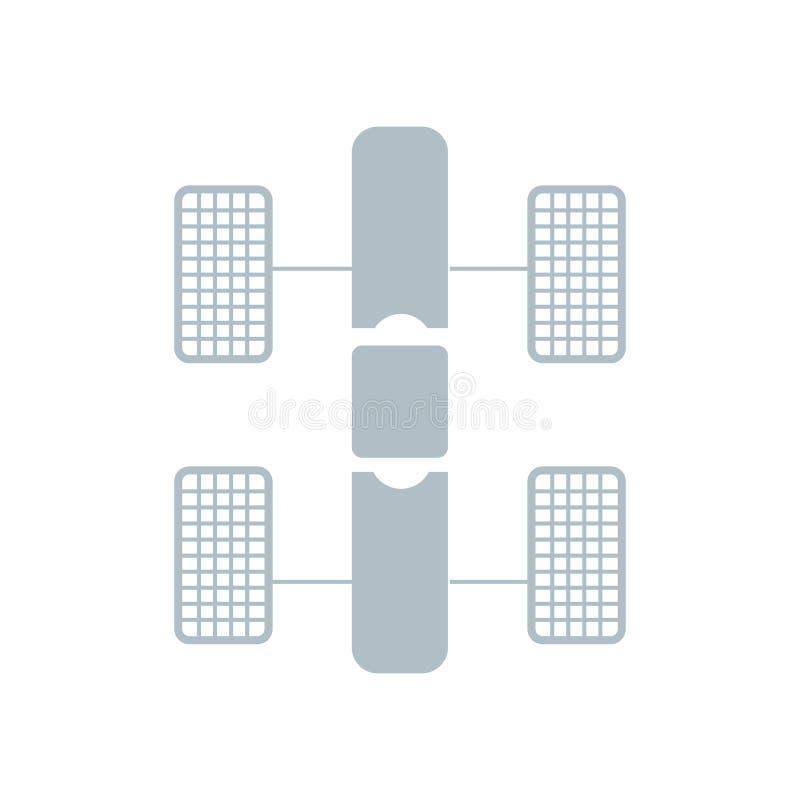 Muestra y símbolo del vector del icono del telescopio espacial de Hubble aislados en el fondo blanco, concepto del logotipo del t libre illustration