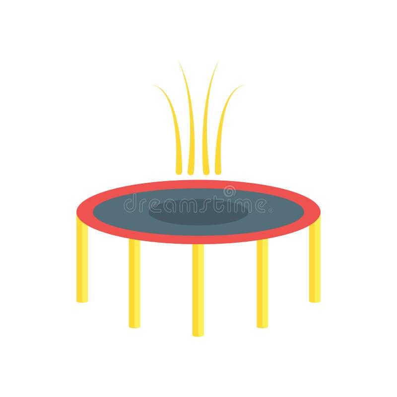 Muestra y símbolo del vector del icono del trampolín aislados en el backgro blanco ilustración del vector
