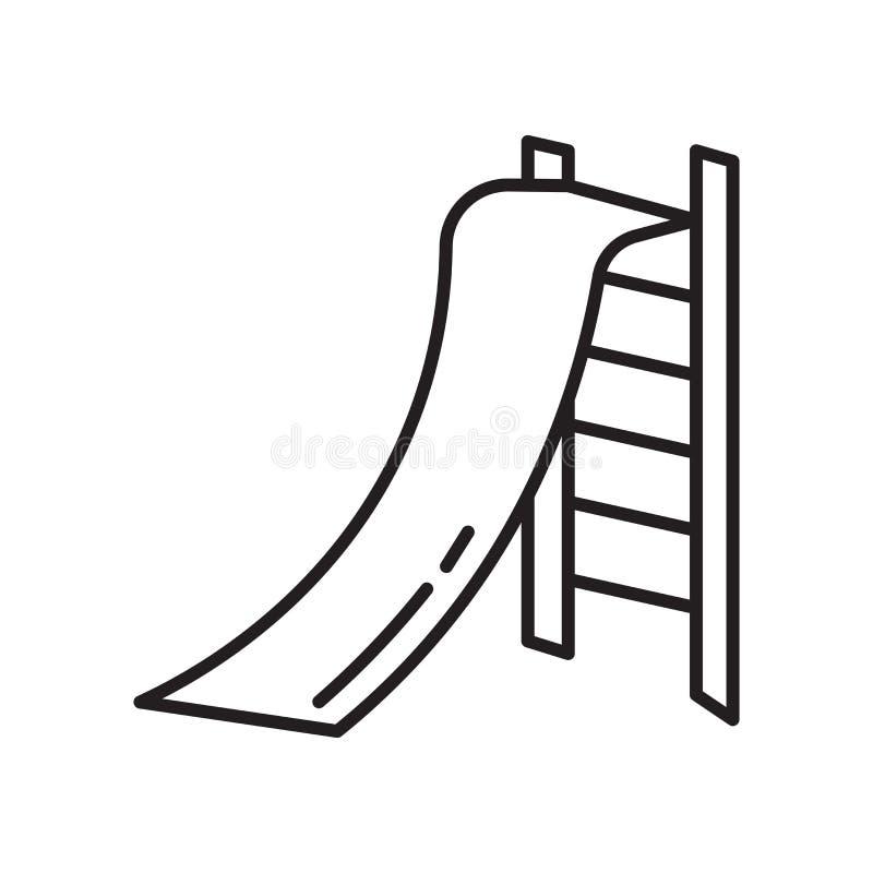 Muestra y símbolo del vector del icono del trineo largo aislados en el fondo blanco, concepto del logotipo del trineo largo libre illustration