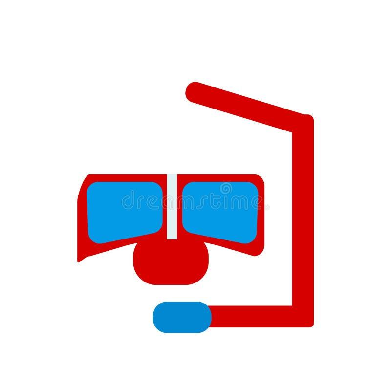 Muestra y símbolo del vector del icono del tubo respirador aislados en el fondo blanco, concepto del logotipo del tubo respirador stock de ilustración