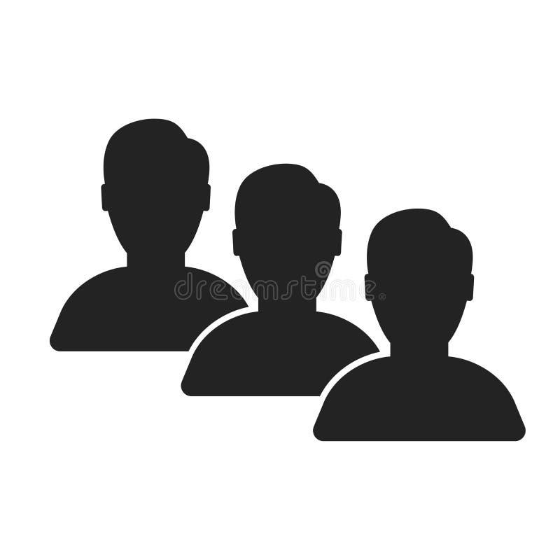 Muestra y símbolo del vector del icono del usuario aislados en el fondo blanco, concepto del logotipo del usuario ilustración del vector