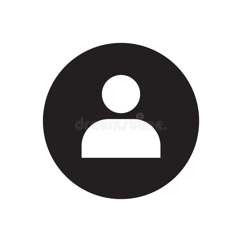 Muestra y símbolo del vector del icono del usuario aislados en el fondo blanco, concepto del logotipo del usuario stock de ilustración