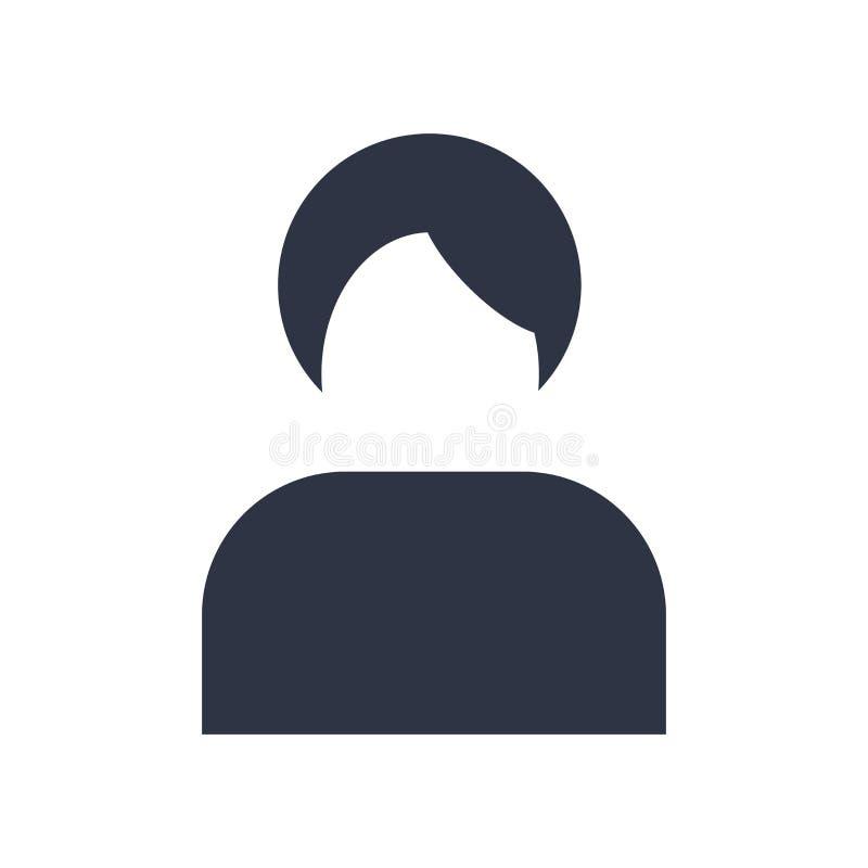 Muestra y símbolo del vector del icono del vendedor aislados en el fondo blanco, concepto del logotipo del vendedor libre illustration