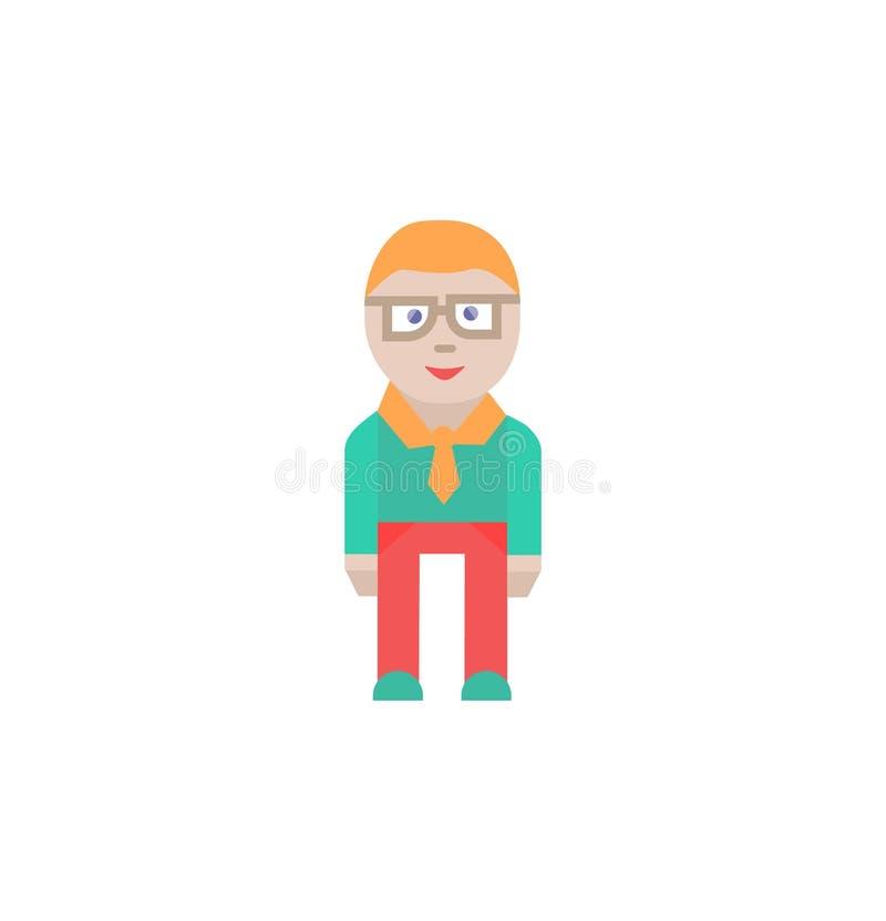 Muestra y s?mbolo lindos del hombre de negocios de car?cter del icono del hombre de negocios libre illustration