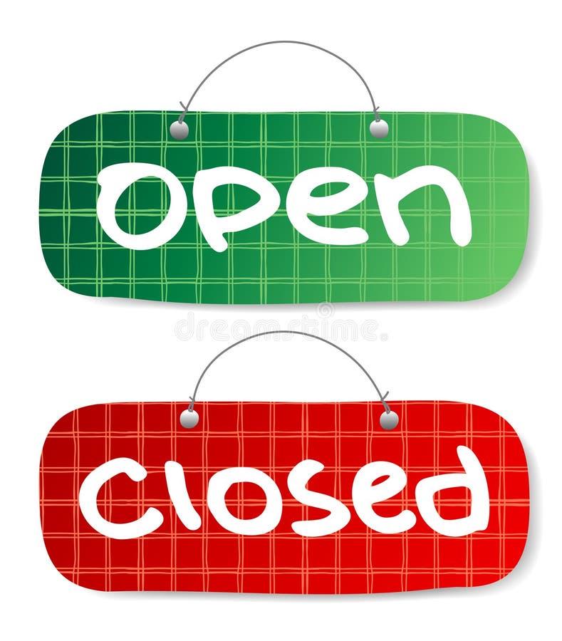 Muestras abiertas y cerradas ilustración del vector