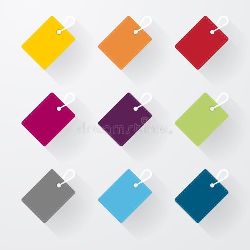 Muestras coloridas simples stock de ilustración