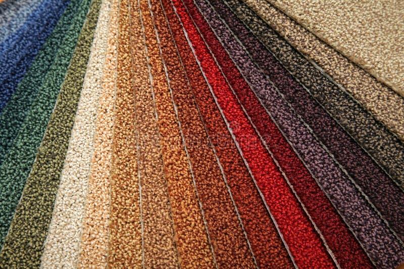 Muestras de alfombra imagen de archivo libre de regalías