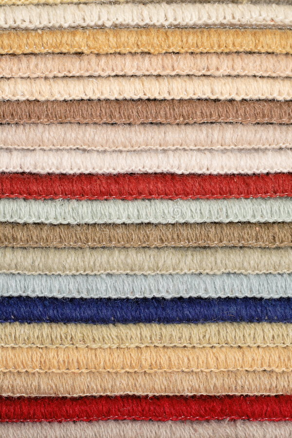 Muestras de alfombra fotografía de archivo libre de regalías