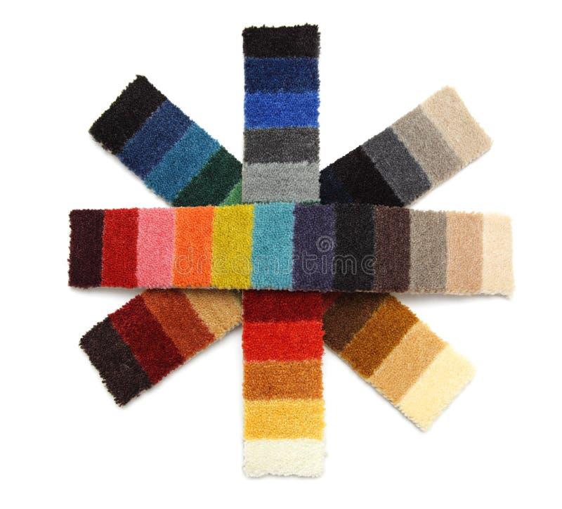 Muestras de alfombra - copos de nieve imagen de archivo libre de regalías