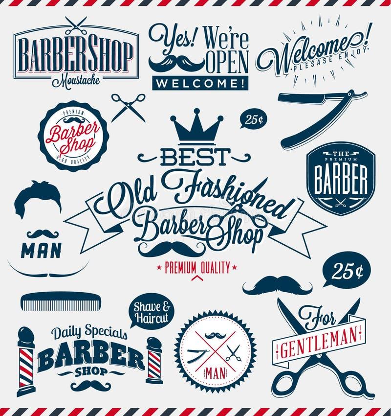 Muestras de Barber Shop o del peluquero libre illustration