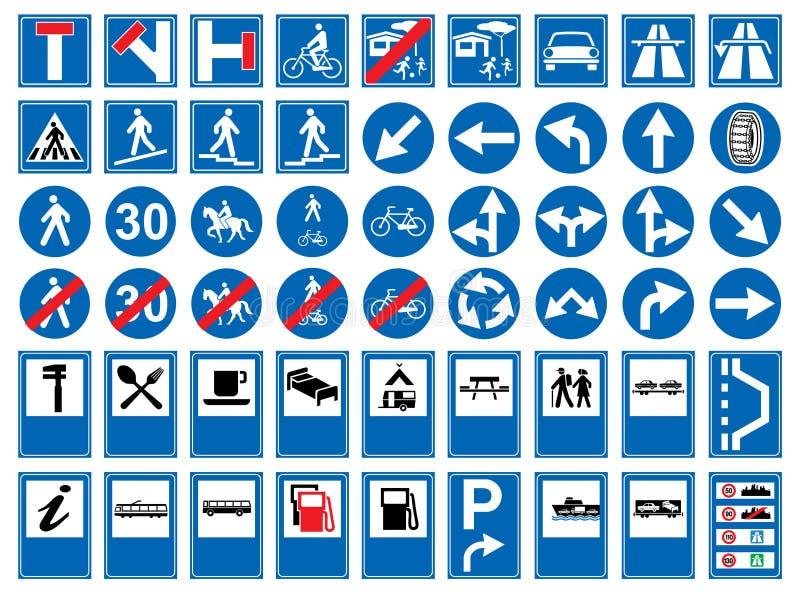 Muestras de camino ilustración del vector
