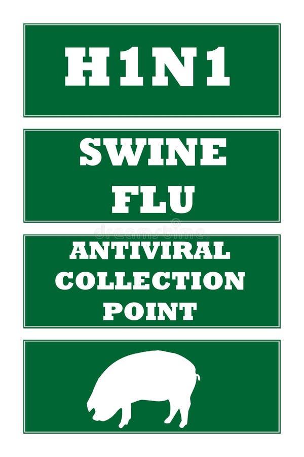 Muestras de camino de la gripe de los cerdos libre illustration
