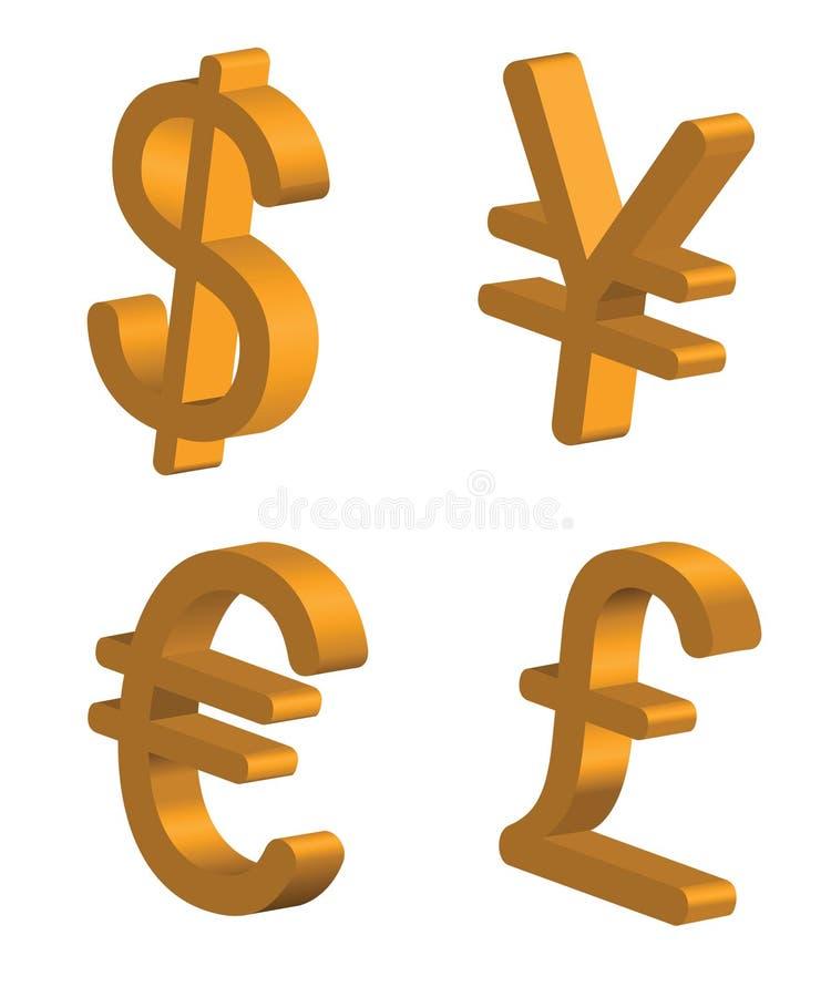 Muestras de dinero en circulación