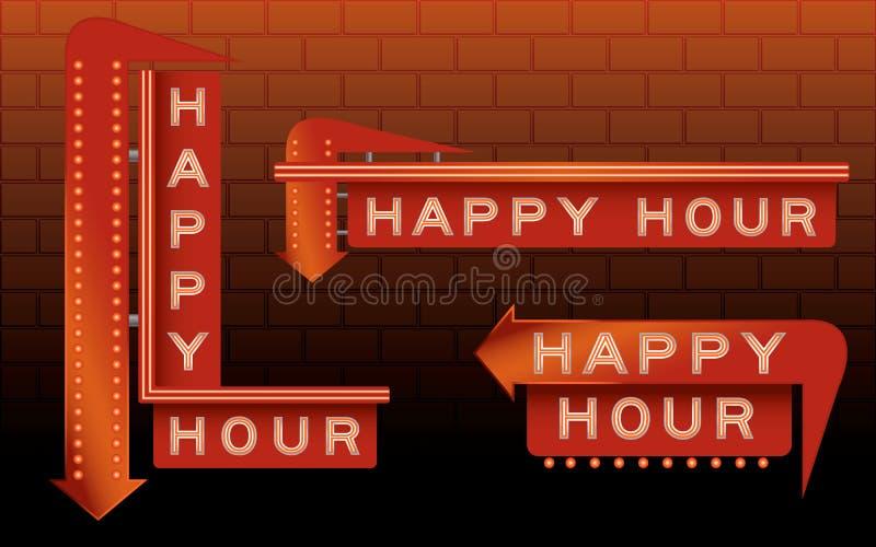 Muestras de la barra de la hora feliz ilustración del vector