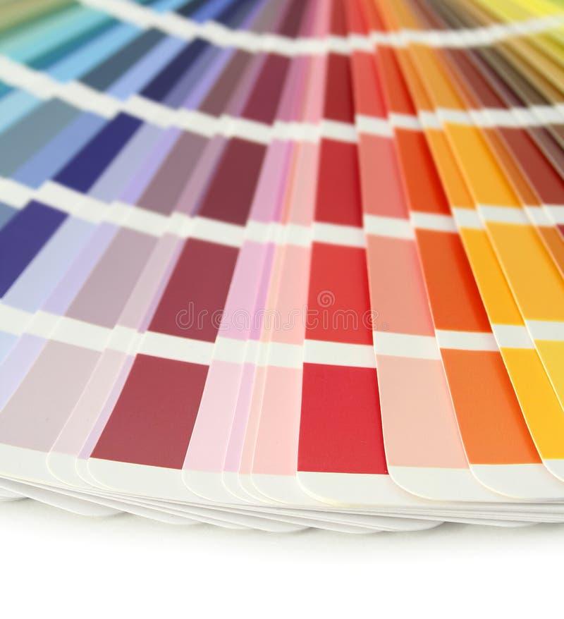 Muestras de la carta de color imágenes de archivo libres de regalías