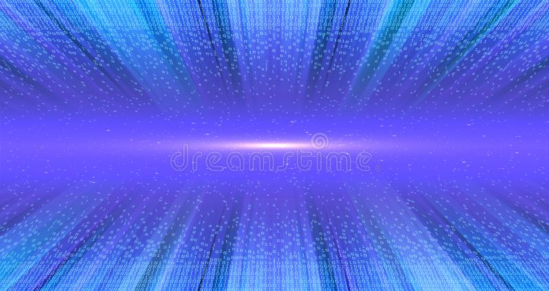 Muestras de la luz en el túnel estructural de los datos Tecnolog?a de Digitaces del c?digo binario De caos al sistema Inteligenci imagenes de archivo