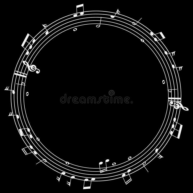 Muestras de la música en círculos ilustración del vector