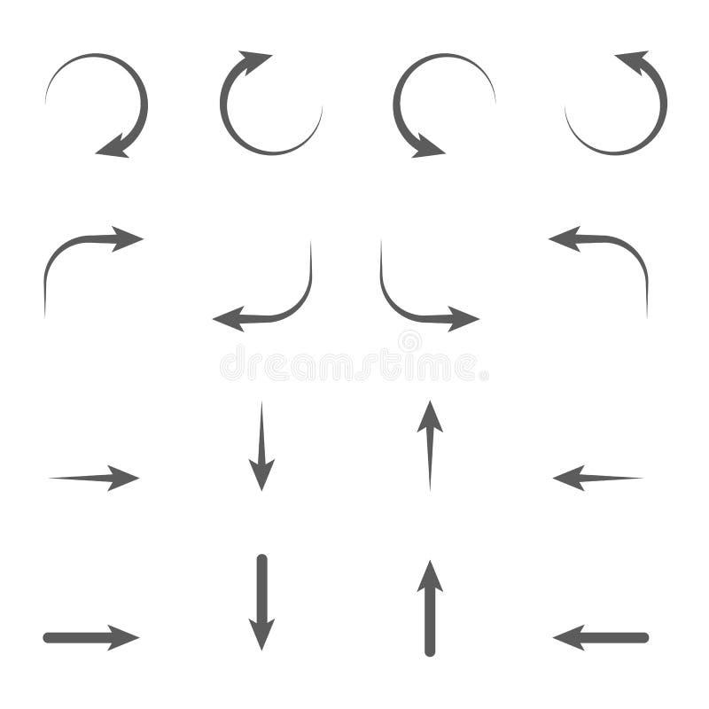 Muestras de las flechas ilustración del vector