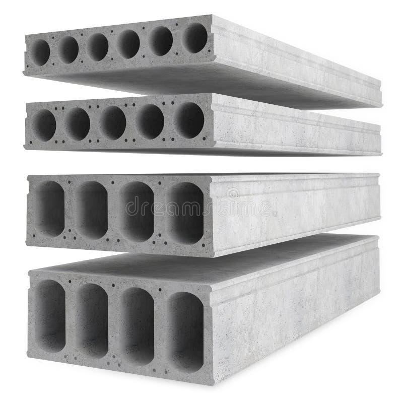 Muestras de losas de piso del hormigón reforzado foto de archivo libre de regalías
