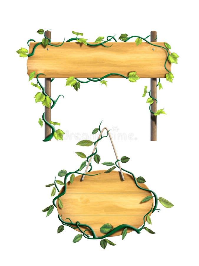 Muestras de madera stock de ilustración