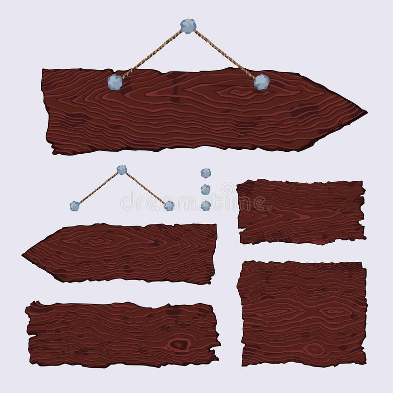 Muestras de madera en blanco (ejecución y oscuridad) stock de ilustración
