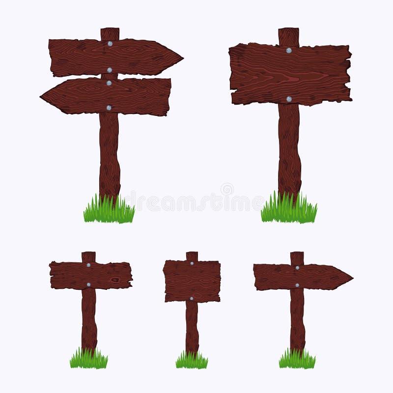 Muestras de madera oscuras en blanco libre illustration