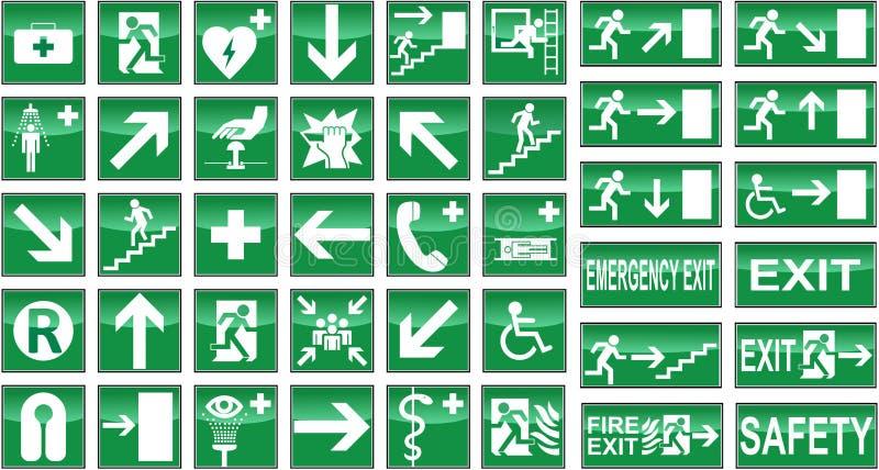 Muestras de salud y de seguridad stock de ilustración
