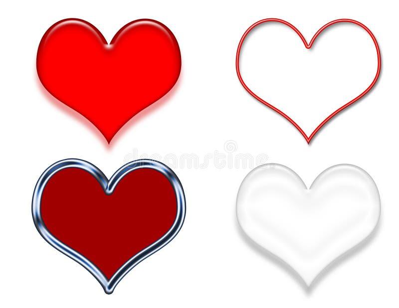 Muestras del arte de clip del corazón libre illustration