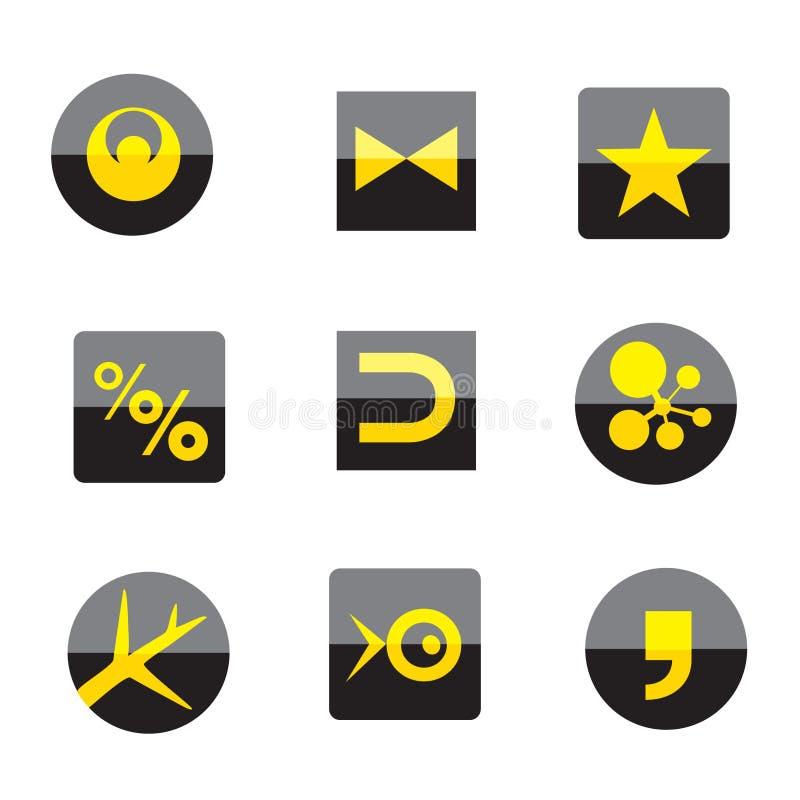 Muestras del asunto de la insignia imagen de archivo