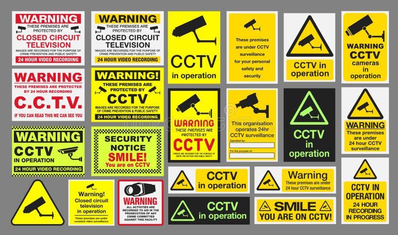 Muestras del CCTV ilustración del vector