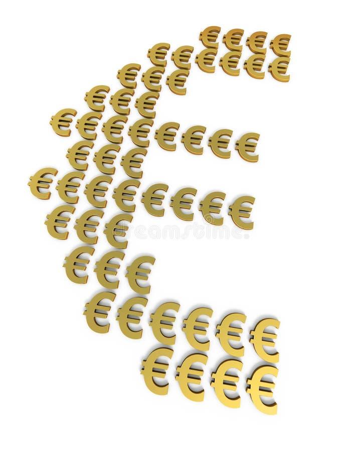 Muestras del euro del oro stock de ilustración