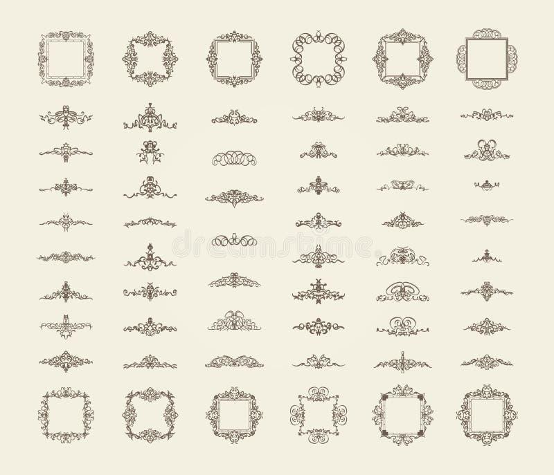Muestras del flourish del negocio y frontera clásica del logotipo libre illustration