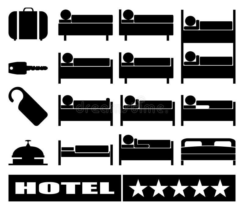 Muestras del hotel ilustración del vector