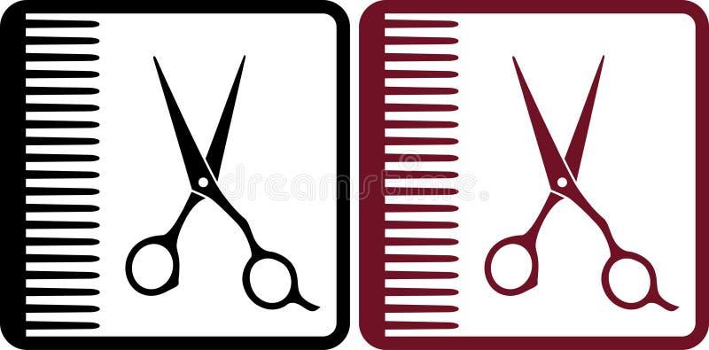 Muestras del peluquero ilustración del vector