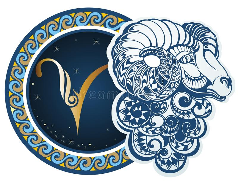 Muestras del zodiaco - aries libre illustration