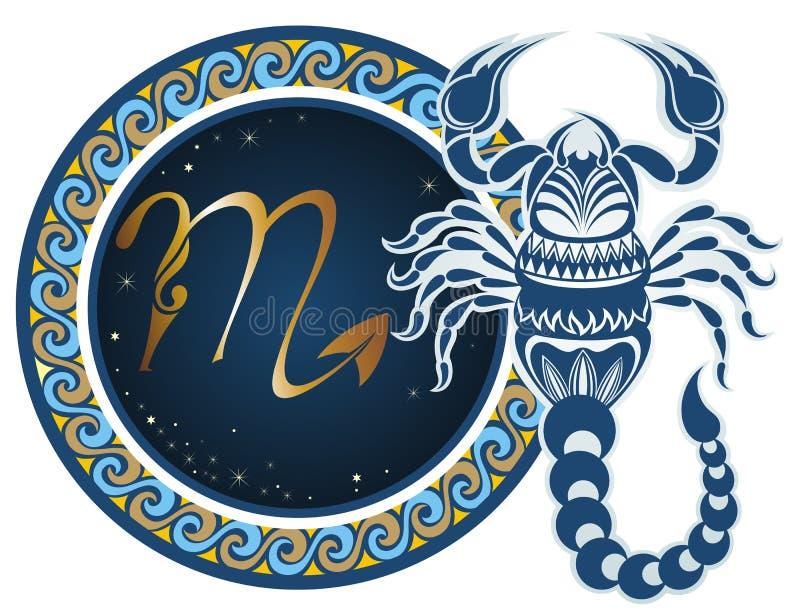 Muestras del zodiaco - escorpión ilustración del vector