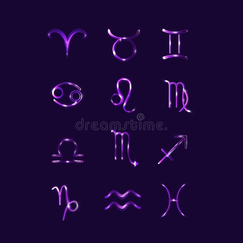 Muestras del zodiaco fijadas libre illustration