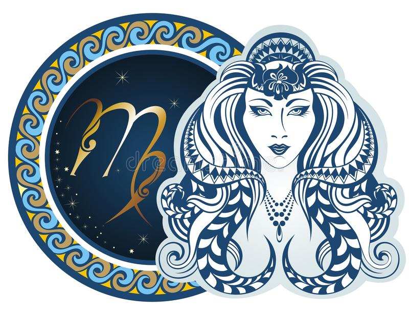 Muestras del zodiaco - virgo ilustración del vector