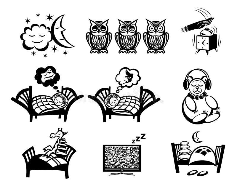 Muestras el dormir fijadas libre illustration