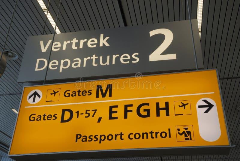 Muestras en el aeropuerto imágenes de archivo libres de regalías