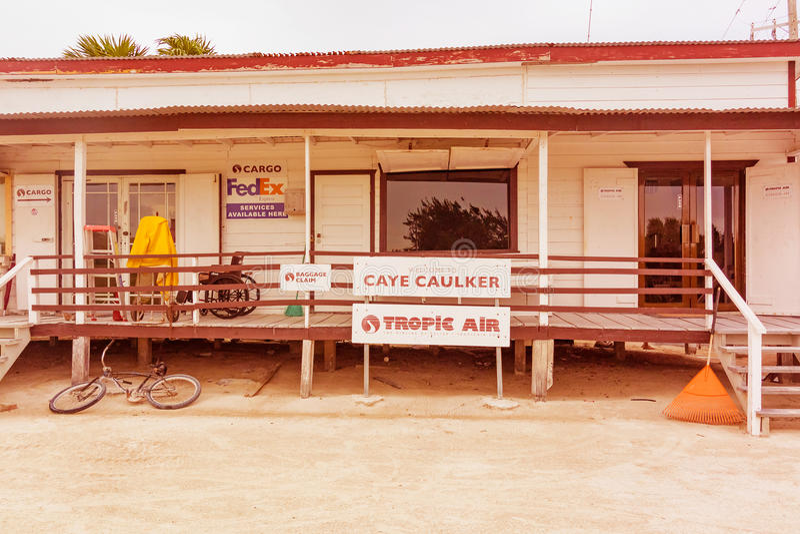 Muestras en el aeropuerto principal en el calafate Belice de Caye fotos de archivo libres de regalías