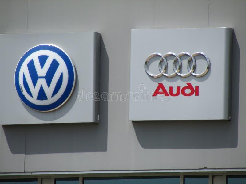 Muestras en VW Audi Distribution Center de VAG en NJ imágenes de archivo libres de regalías