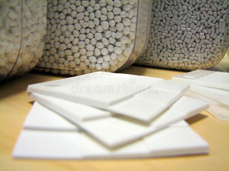 Muestras plásticas blancas imágenes de archivo libres de regalías